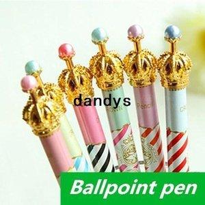 60 pcs Lot Wholesale Crown ballpoint pens Kawaii Stationery bulk ballpen Caneta Novelty Office accessories school supplies 6233, dandys