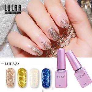 Mode brillant brillant ongles polonais 6ml Gel Nails Brillant Glitter Paillettes Gel UV Vernis arc-en-laser UV Soak Off Gel Nail Art