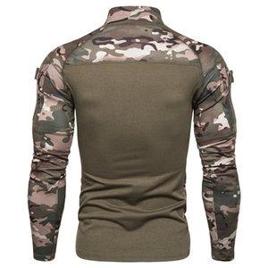 Combate camuflagem militar Tactical T shirt de manga comprida Army Ranger shirt Airsoft Paintball Hunting Shirt War Jogo Roupas Masculino