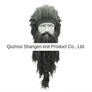 perruque Creative Viking longue barbe de laine mao Mao perruque chaude saison chapeau cheveux Savage TikTok chapeau de ski drôle