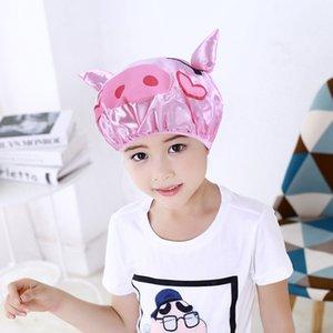 Doccia Cap a doppio strato del fumetto dei bambini di acquazzone impermeabile Cap Cute Baby Bath cappuccio protettivo accessori per il bagno