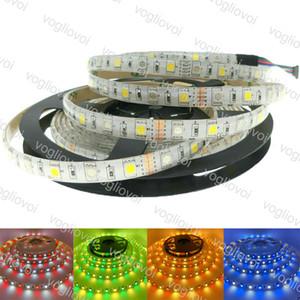 LED Strip Light DC12V SMD5050 RGBW RGBWW flessibile 300LEDS 5m / rotolo PCB per bar KTV Desk computer TV Decorazione sfondo