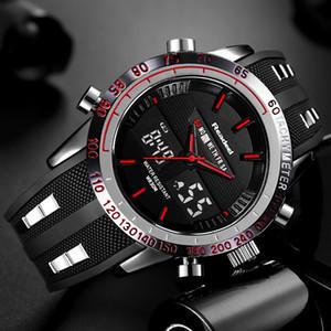 Brand New Men Sports Watches Waterproof Mens Military Digital Quartz Watch Alarm Stopwatch Dual Time Zones Relogio Masculino Y19052103
