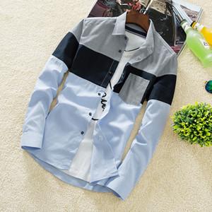 Amazon wishs fabricante transfronteriza explosivo especializado en el hombre de moda casual para hombre de moda comprobó las camisas de mangas largas 39CS43