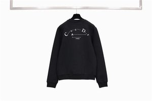 Мужские толстовки свитера вскользь Sweatershirt капюшоном Loong рукава Мужчины Женщины Пара Пуловер Letters Curve Версия для печати Одежда Tops