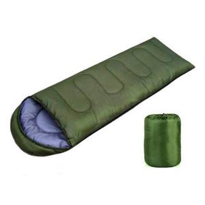 Dormir ao ar livre Bolsas Warming Individual Sleeping Bag Casual Waterproof Cobertores Envelope Camping viagens Caminhadas Cobertores saco de dormir