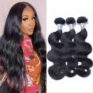 Malaysian Virgin Hair Extensions 100g pc 3 Bundles Body Wave Human Hair Weave Unprocessed Double Weft