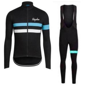 Rapha equipo de ciclismo mangas largas jersey (BIB) pantalones conjuntos de primavera y el otoño transpirable Ciclismo para hombre ropa de ciclo zefengst