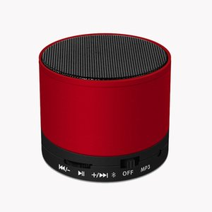 Metal bluetooth Speaker S10 Wireless Bluetooth Portable with Mic Voice Prompt Acoustics Stereo Sound Quality TF Card Support