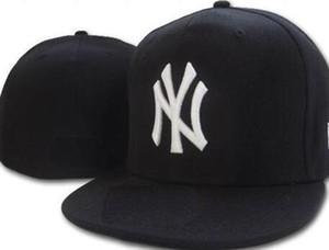 New Hot No Campo New York equipado chapéu CAP de Qualidade Superior plana Borda embroiered Carta Equipe NY logotipo fãs bonés de beisebol cheio fechado cap 01