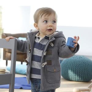 2016 Nouveaux Bébés garçons Veste Vêtements d'hiver 2 Couleur vêtement Manteau en coton épais vêtements d'enfants Habineige Vêtements pour enfants avec capuche