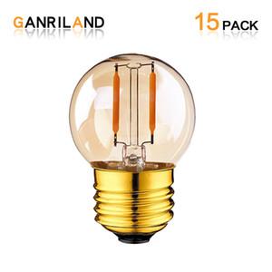 Unique Retro Dimmable Edison G40 LED lâmpada 110V 220V 1W E27 LED Lâmpada de filamento quente 2200K Para Casa Bar Shop