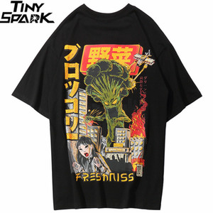 Männer Hip Hop T-shirt Japanische Harajuku Cartoon Monster T-shirt Streetwear Sommer Tops Tees Baumwolle T-shirt Übergroße Hiphop Q190530