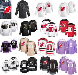 Benutzerdefinierte New Jersey Devils Hockey 76 PK Subban Jersey Männer Golden Edition Fights Cancer 20 Blake Coleman 91 Taylor Hall 17 Wayne Simmonds