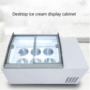Desktop ice cream display cabinet commercial freezer for cold drinks shop store supermarket ice cream display cabinet