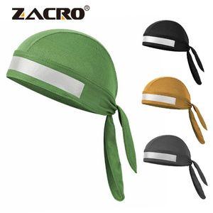 Zacro de secado rápido Color puro ciclismo tapa con cinta refelctive cabeza bufanda hombres corriendo montar Bandana pirata sombrero capucha diadema
