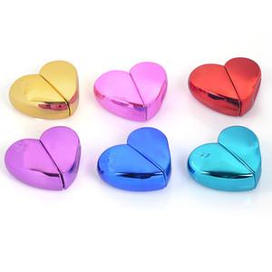 Botella de perfume portátil de alto grado Amor En forma de corazón Pequeñas botellas de aerosol Caja de almacenamiento de cáscara de metal de aluminio 3 6yj Ww