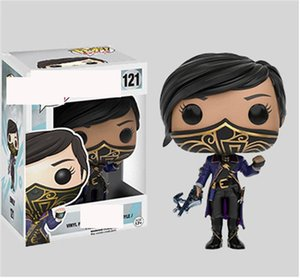 Xmas gift Funko Pop Dishonored 2 Emily POP 121# Hot Film Action Anime Figure PVC 10cm Anime Figure for Christmas Gift toy