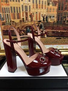 robe d'été sandales de mariage boucles en métal talons chunky plateforme sandales femmes design de mode talons hauts sandales en cuir princetown mujers