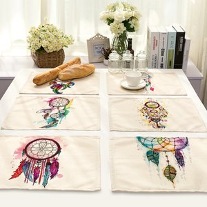 CAMMITEVER حلم الماسك الأبيض عشاء حصيرة السلطانية أدوات المائدة الوسادة مكملات مطابخ القطن الكتان الجدول حصيرة