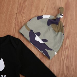 Newborn Baby Boy Clothes Set Infant Kid Camo Outfit Long Sleeve Bodysuit Pants Hat 3Pcs Autumn Toddler Children Cothing Set