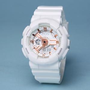 2020 New Moda Womens Sports Watches Assista LED Student Branco multifuncionais senhoras G Estilo Assista Presente Com Original Box montre femme