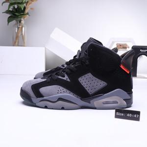 Nova Chegada 6 PSG Cinza de Ferro Infravermelho 23-Black Men Sapatos De Basquete Designer de Formadores 5s Paris PANAME Mens Sports Sneaker