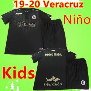 2019 2020 Sharks Veracruz Red tubarão camisas de futebol edição especial crianças kit Veracruz Puerto meninos ANIVERSÁRIO criança 500TH define 19 20 Camiseta