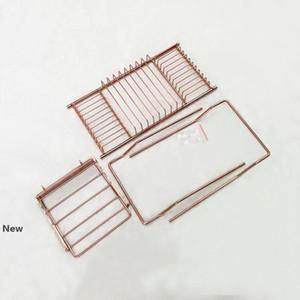 Vasca da bagno in acciaio inox Rack Doccia Organizzatore Vasca Caddy vassoio con estensione Holder lati Prenota in oro rosa bagno Mensole GGA2883