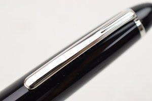 El mejor diseño-Montel 163 de resina negro classique ballpoiint pluma de escritura Suministros bolígrafo para un regalo de lujo