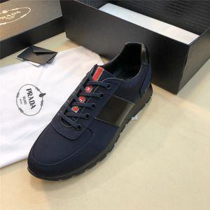 PRADA Persönlichkeit und Mode berühmt Luxus Designer Sneakers Schnürschuhe mit Top-Qualität aus echtem Leder Casual Designer Schuhe A074