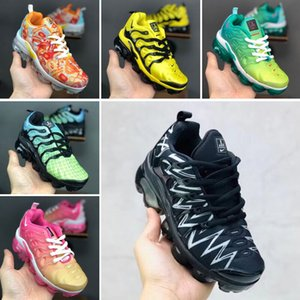 2018 kids Cushion 2.0 Running Shoes Children boy girls tn Red pink Triple Black White Infant toddler Walking Sneakers 24-35