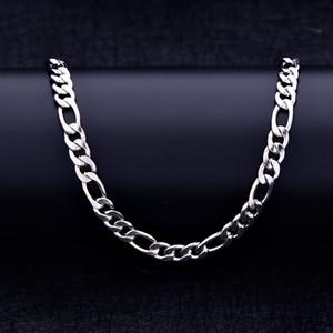 Hombres astilla Figaro pulsera elegante y personalizada plana de tres cadenas de acero inoxidable mujeres brazalete encanto joyería YSS06