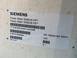 NEW SIEMENS SIMEAS P POWER METER 7KG7500-0AA0-0AA0 / BB NIB