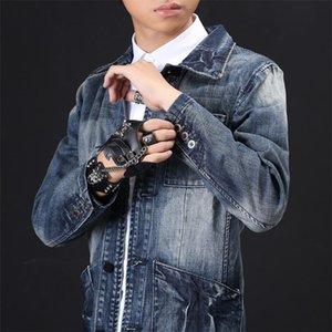 Fashion Autumn Slim Fit Denim Jacket Men Multi Pockets Retro Casual Jeans Jacket Coat Male Vintage Coats Streetwear Plus Size