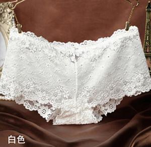 Donne Sexy Lady Lace Briefs floreale Pantaloncini mutandine della biancheria intima Mutandine Mutande