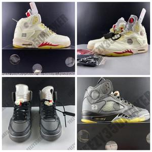 2020 OG off Creme Metallic Reflective 5 5s 3m Schnürsenkel weiß Herren-Basketball-Schuh-athletischer Sport-Turnschuh-Entwerfer-Trainer US7-13