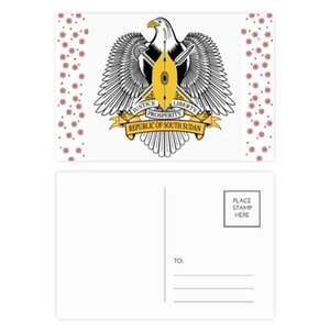 South Sudan Africa National Emblem Christmas Flower Postcard Thanks Card Mailing 20pcs