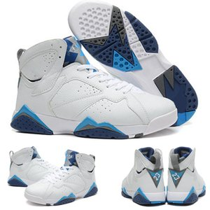 High Quality Jumpman 7 VII Orion French Blue White Kids Men Basketball Shoes Retro Sports Sneaker Outdoor Shoes