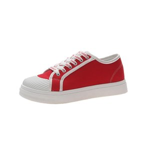 2020HOT Women's Shoes Sneakers Candy Color Canvas Shoes White Flat Sneakers Female Rubber Sole Ladies Shoe