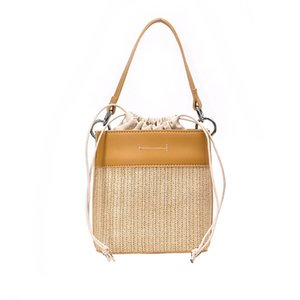 Designer Handbags Messenger Woven Bag New Fashion Portable Luxury Bucket Bag Tide Designer Shoulder Straw Bag