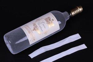 red blanca de la manga botella 2000pcs PE plástico botella de vino tinto botella de protección neta calcetines en stock SN3155
