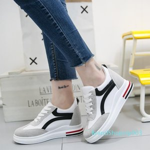 Hot Sale-2020 Spring Autumn Women Sneakers Platform Increasing Casual Shoes Woman Wedges Trainers