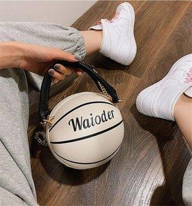 [Bxx] Les femmes single de l'épaule sac à bandoulière All-match Pu cuir grande capacité Tote 2020 Marque Basketball Rivet Sac à main Hi391 # 52030