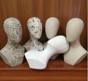 الجملة 4style رئيس أفريقي عارضة أزياء kissen geometrisch، الإناث قبعة وشاح يظهر شعر مستعار شعر مستعار عرض mannequi، يمكن نسيج القطن دبوس 1PC HY023