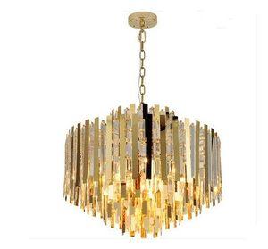 Modern Luxury K9 Kristallleuchter-Beleuchtung-Befestigung modernes Gold-Kronleuchter LED-Leuchten Wohnzimmer Schlafzimmer Foyer Pendelleuchte MYY