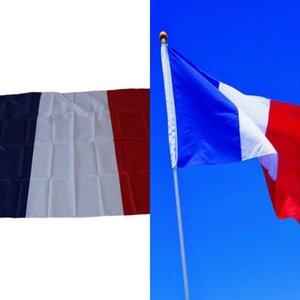 3 * 5 pies Francia Nacional Banderas del francés clásico de poliéster banderas de decoración francesa indicador de la bandera de bronce ojales Banner Banderas