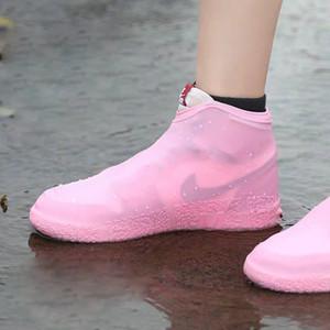 Reutilizáveis impermeáveis à prova de chuva Sapatos Cobre silicone lavável resistente ao desgaste sapatos Covers botas de chuva para adulto Crianças