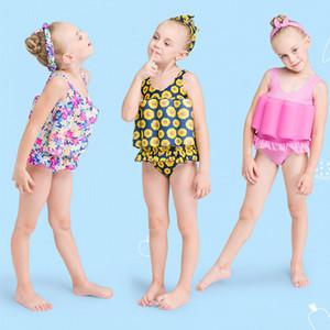 어린 소녀 일 보호 부력 수영복 원피스 수영복 어린이 학습 수영 원피스 원피스 아이 수영복