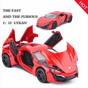 Hot 1:32 Fast Furious Lykan Alloy Car Model Diecasts Vehículos de juguete Toy Car Metal Toy Kid Toys para niños regalo J190525